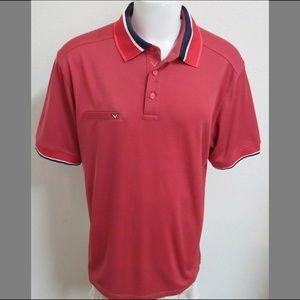 2XL Pink/Blue Callaway Golf Men Polyester 63Z Polo